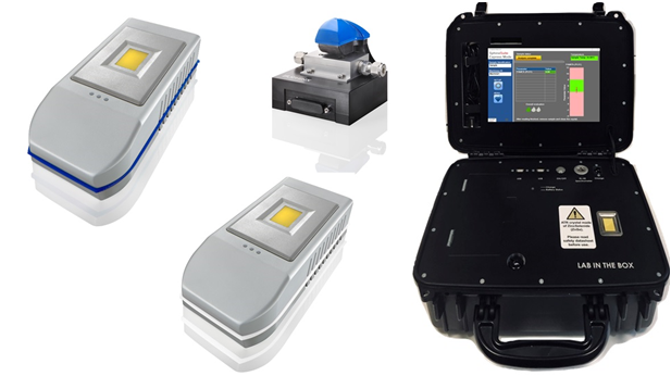 Portable spectrometers portfolio, including fame analyser, oil condition monitoring, oil in wastewater, ftir transmission device, atr ftir.